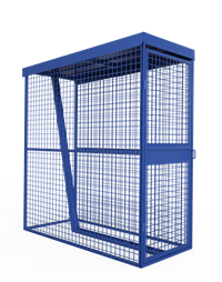 Modular Individual 1 Bike Cage - Closure Unit