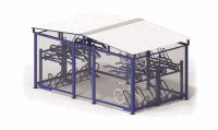 Horizontal Double 28 Bike Cage